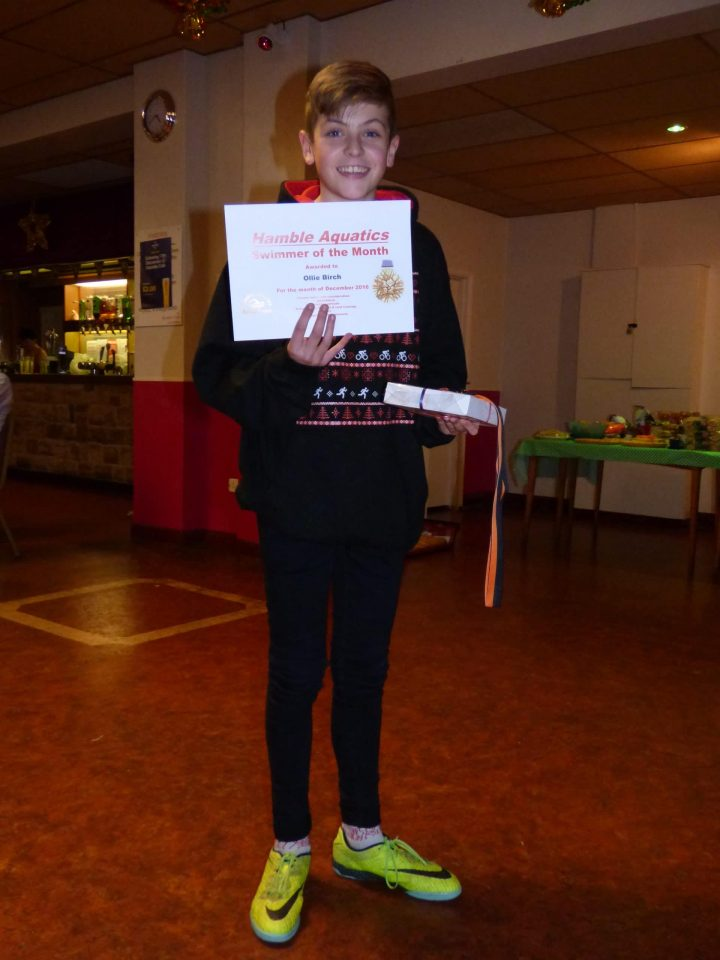 Hamble Aquatics - Swimmer of the Month